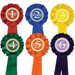 1st to 6th One Tier (Pack of 6) Buy a set of 1st - 6th for the price of 5 rosettes