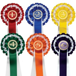 1st to 6th Three Tier rosettes