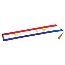 Tri Coloured Sash Personalised
