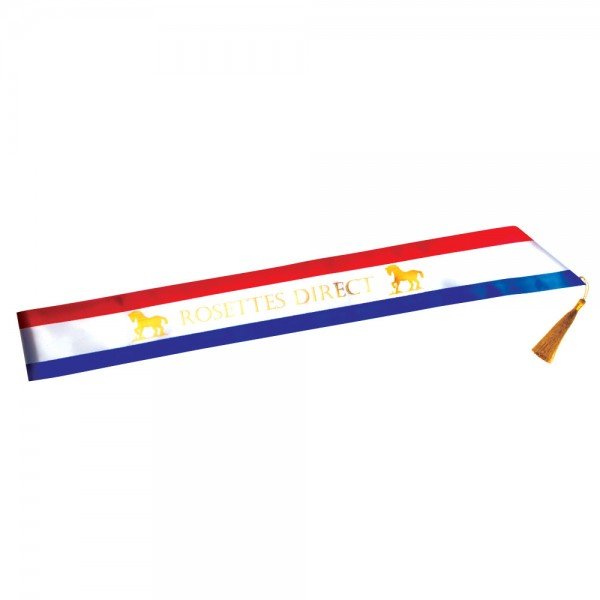 Personalised  Tri Coloured Sash