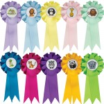 Zoo Animal Mini Rosettes (Pack of 10)