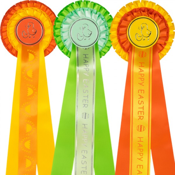 Easter Rosettes - Pack of 3