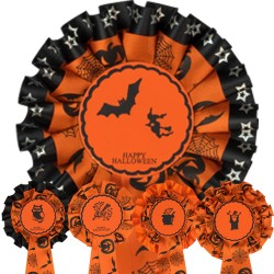 Halloween Rosettes (pack of 5)