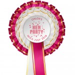 Personalised Hen Party Rosettes (10 Pack)