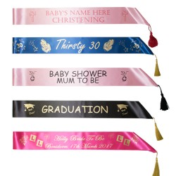Personalised Sash