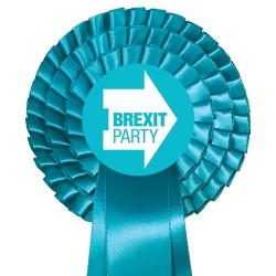 Brexit Party Three Tier Rosette