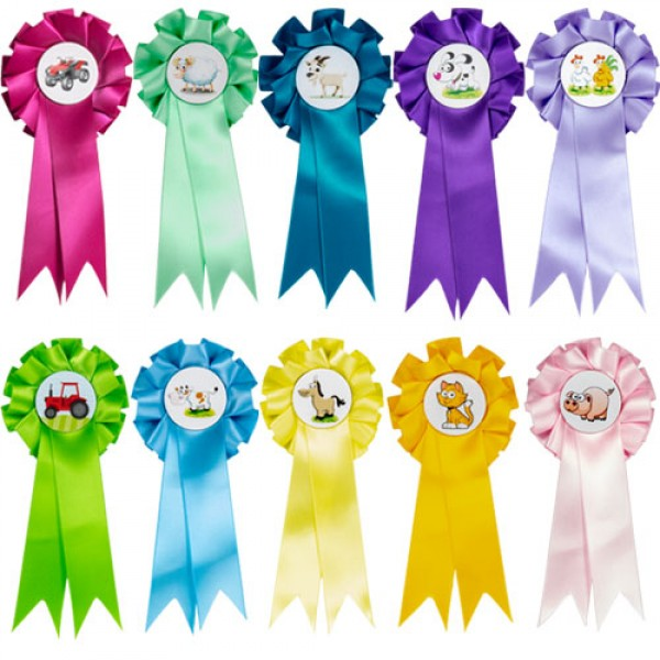 Farm Animal Mini Rosettes (Pack of 10)