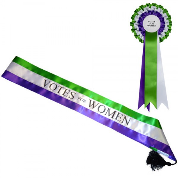 Votes for Women Suffragette Sash & Rosette