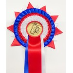 Olympia Personalised Souvenir Red White & Blue Rosette