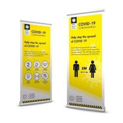 Covid 19 - Business Roller Banner