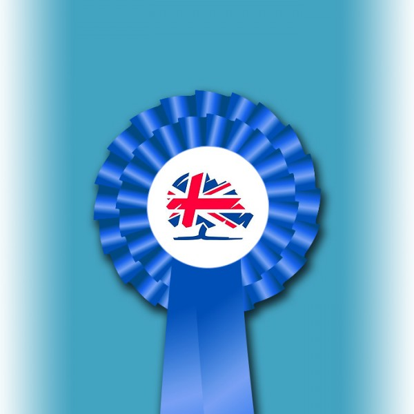 Conservative Party Two Tier Rosette