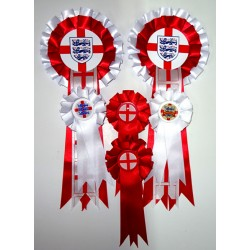 England Rosettes (Pack of 6)