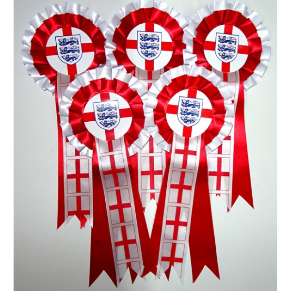 England Rosettes (Pack of 5)