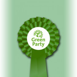 Green Party Two Tier Rosette