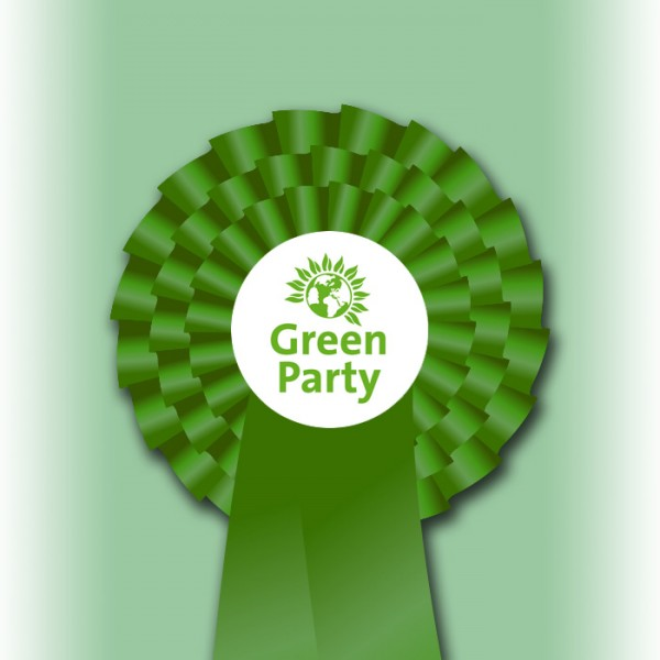 Green Party Three Tier Rosette