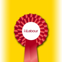 Labour Party Two Tier Rosette