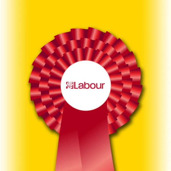 Labour Party Three Tier Rosette