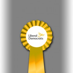 Liberal Democrat Party Single Tier Rosette