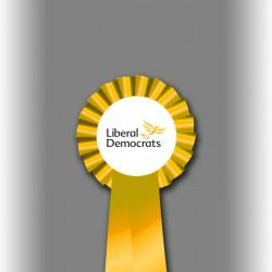 Liberal Democrat Party Single Tier Rosette
