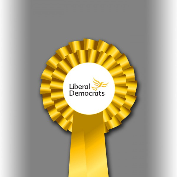 Liberal Democrat Party Two Tier Rosette