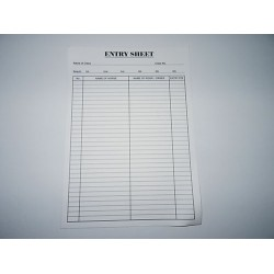 Entry Sheets