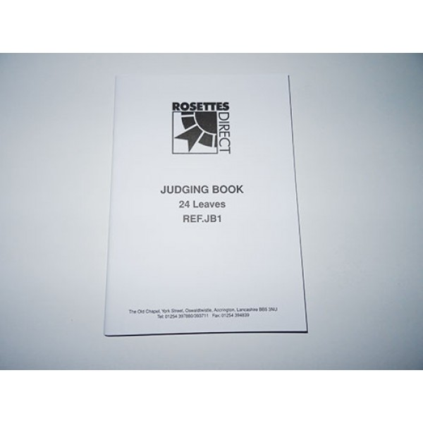 Judging Book (24 pages)