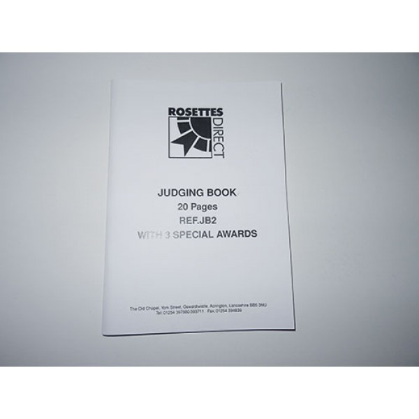 Judging Book with 3 Special Awards pages (20 pages)