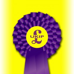 UKIP Three Tier Rosette